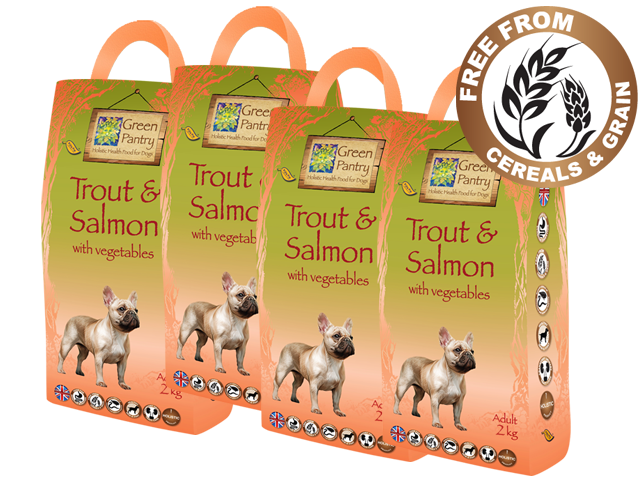 Trout, Salmon and Veg, Complete Grain Free Dog Food.